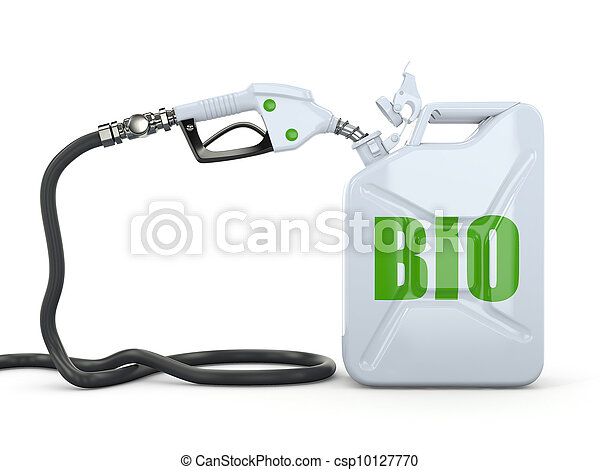 Biofuel. Gas pump nozzle and jerrycan - csp10127770