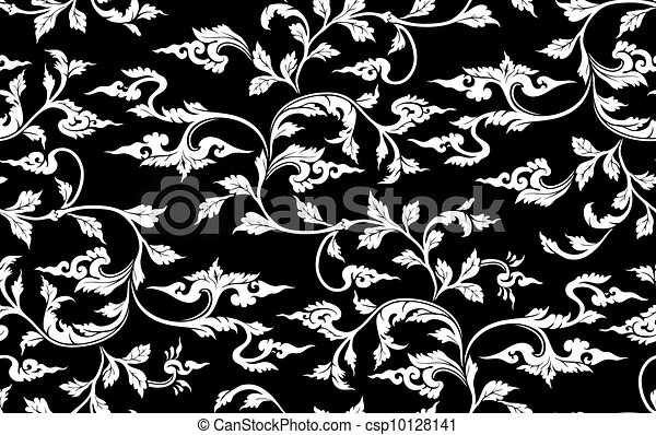 Vector. Seamless branch pattern - csp10128141