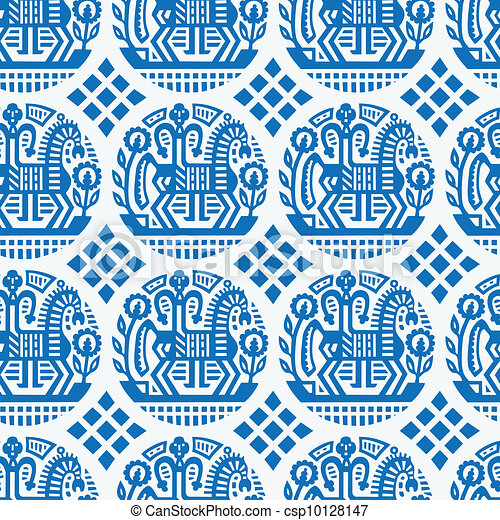 Ukrainian Seamless Vector Texture - csp10128147