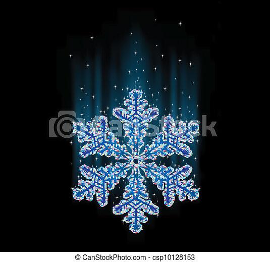 natural snowflake macro - csp10128153