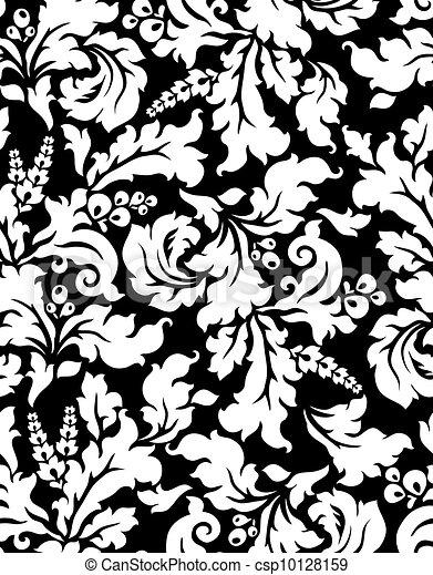 Vector. Seamless damask pattern - csp10128159