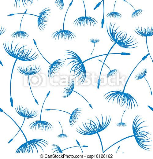 Vector. Elegant seamless dandelion pattern - csp10128162