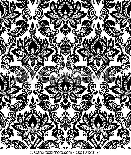 Vector. Seamless damask pattern - csp10128171