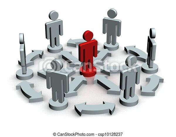 Conceptual image of teamwork. 3D image. - csp10128237