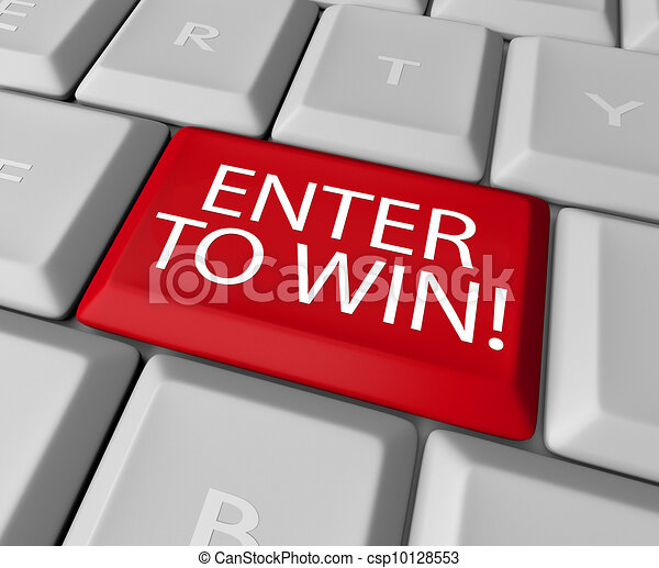 Enter to Win Contest Drawing Raffle Lottery Computer Key - csp10128553