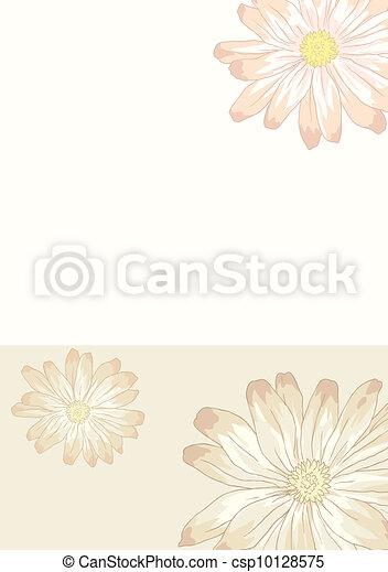Floral card - csp10128575
