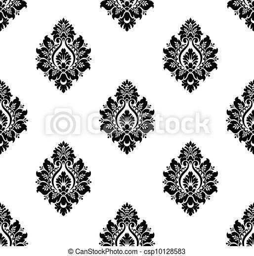 Vector. Seamless damask pattern - csp10128583