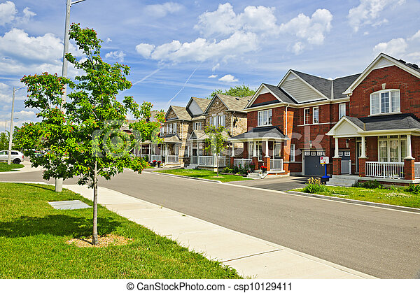 Suburban homes - csp10129411