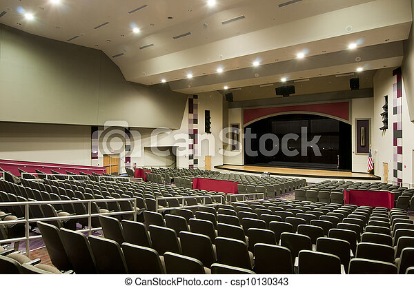 Auditorium at High School - csp10130343