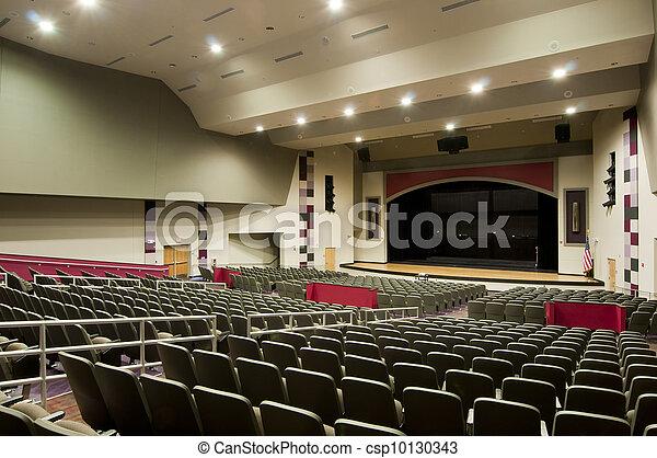 Stock Photo of Auditorium at High School csp10130343 ...