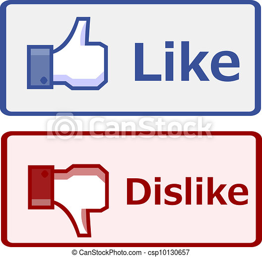 Clipart Vector of Like and dislike button csp10130657 ...