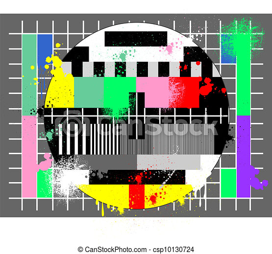 Color test for tv in grunge style - csp10130724