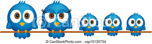 Blue birds family - csp10130734