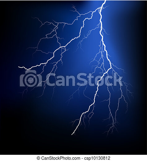 Detailed lightning vector - csp10130812