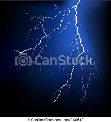 Detailed lightning vector - csp10130812