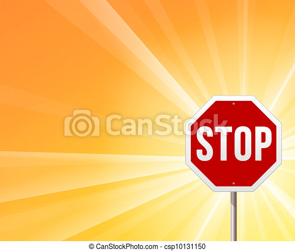 Stop Sign and Sunshine - csp10131150