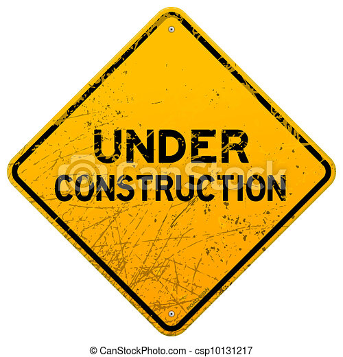 Dirty Under Construction Sign - csp10131217