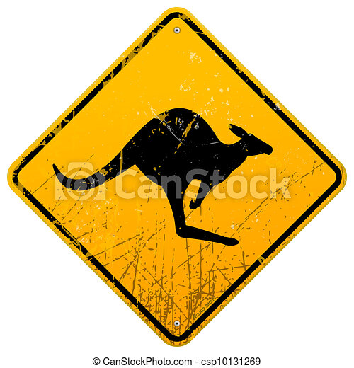 Kangaroo Vintage Sign - csp10131269