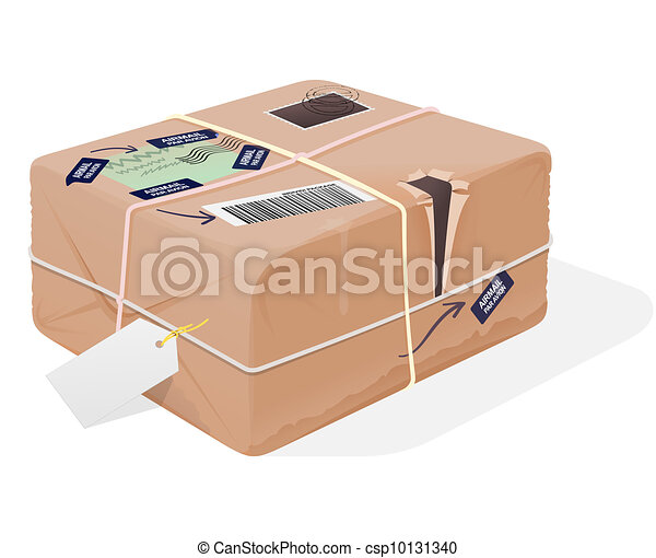 Eps Vector Of Mail Package Illustration Classic Post Box