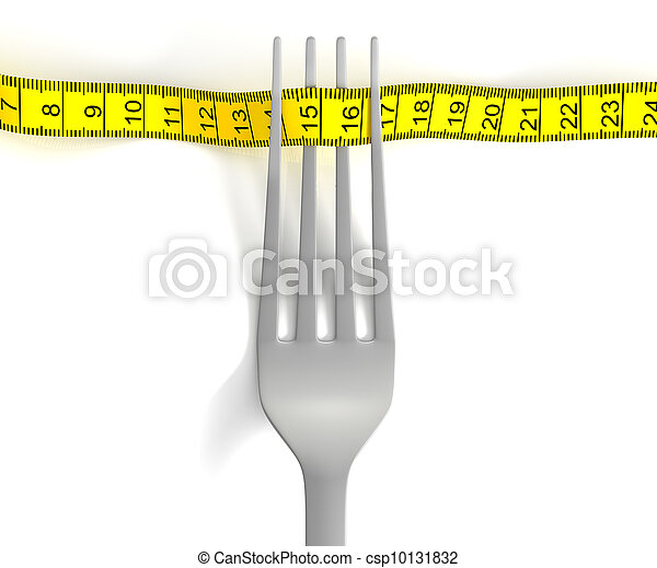 Fork with measuring tape - csp10131832