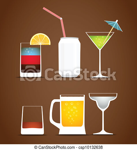 Beverages vector collection - csp10132638