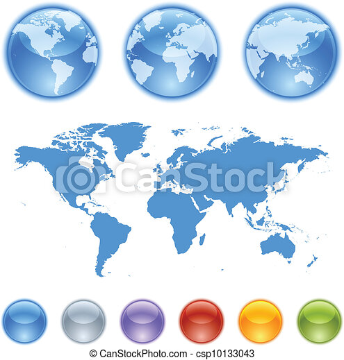 Earth globes creation kit  - csp10133043