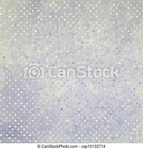 Aged and worn paper with polka dots. EPS 8 - csp10133714