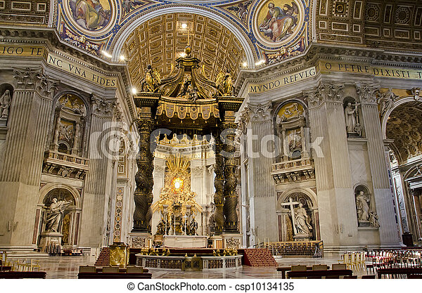 Saint Peters Cathedral in Vatican - csp10134135