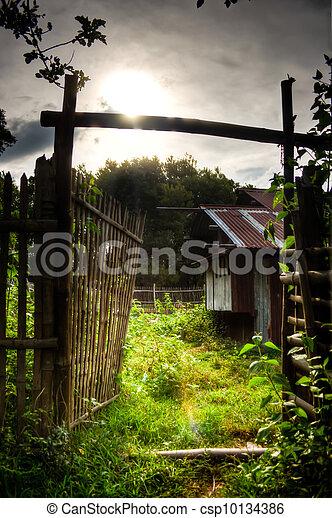 Old Philippine Farm House - csp10134386