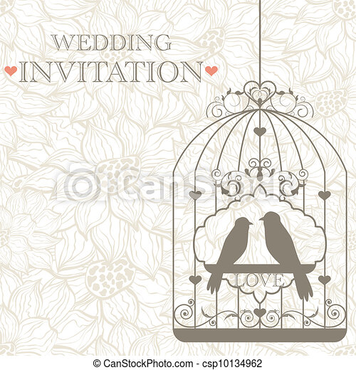 Wedding invitation - csp10134962