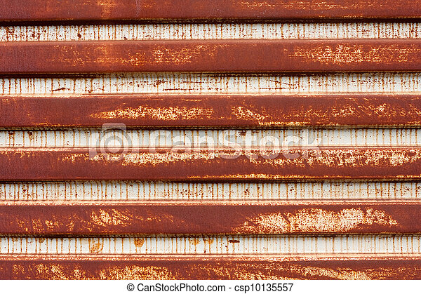 Rusted Corrugated Metal - csp10135557
