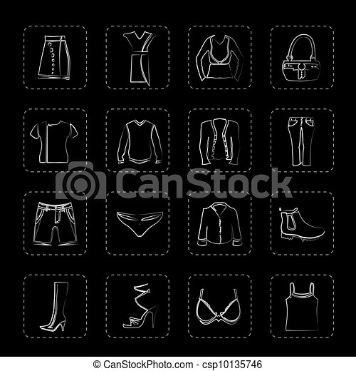 Clothing and Dress Icons - csp10135746