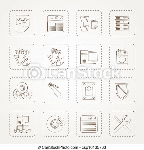 Server Side Computer icons - csp10135763