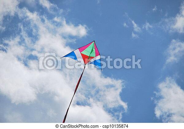 Flying kite 3 - csp10135874