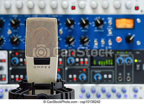 Studio microphone and audio devices - csp10136242