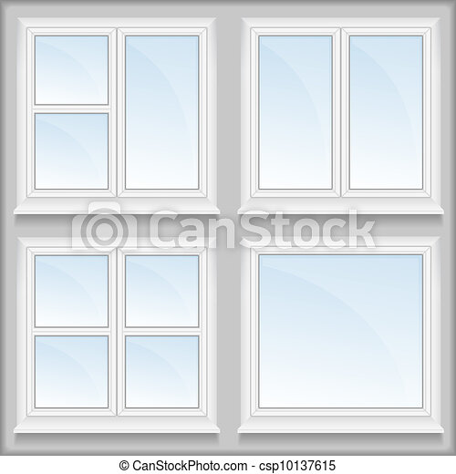 Windows with sills - csp10137615