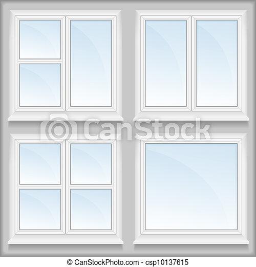 Windows with sills - csp10137615