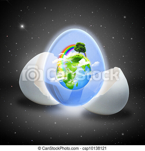 Environmental abstract backgrounds. Newborn in the Universe - csp10138121