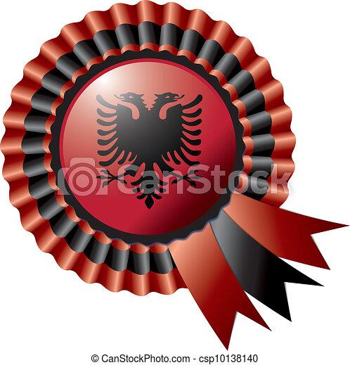 Albania rosette flag - csp10138140