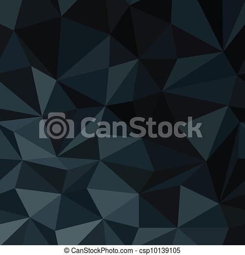 Dark Blue Abstract Diamond Pattern Background. Vector Illustration, EPS8 - csp10139105