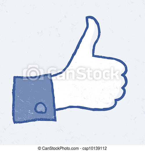 Abstract thumb up icon. Grunge illustration, EPS10. - csp10139112
