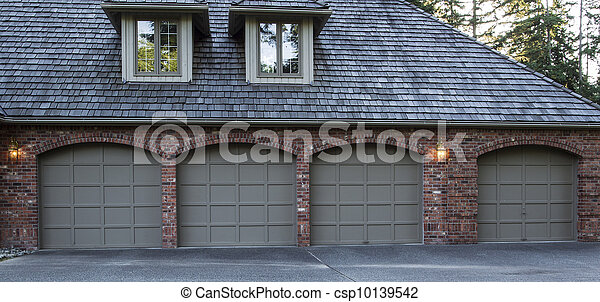 Residential Garage Doors - csp10139542