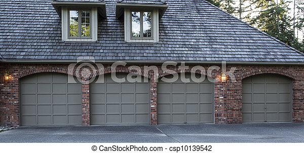 Residential Garage Doors  - csp10139542