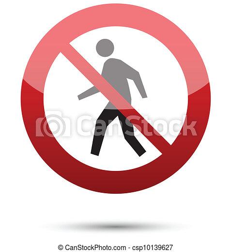 Do not enter sign - csp10139627