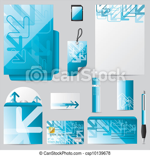 Stationary business set with arrows - csp10139678