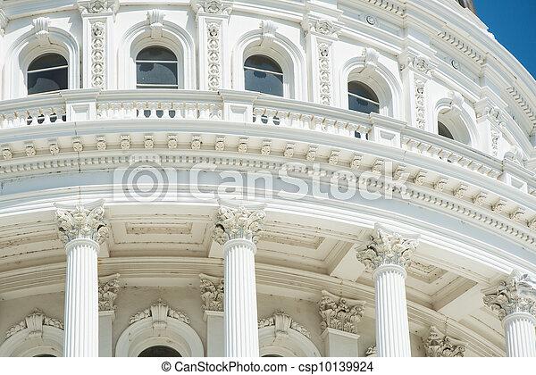 Sacramento State Capitol Dome Close Up - csp10139924