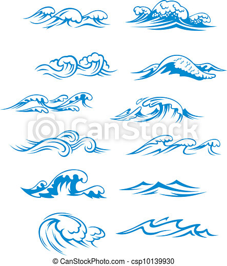 Ocean waves set - csp10139930