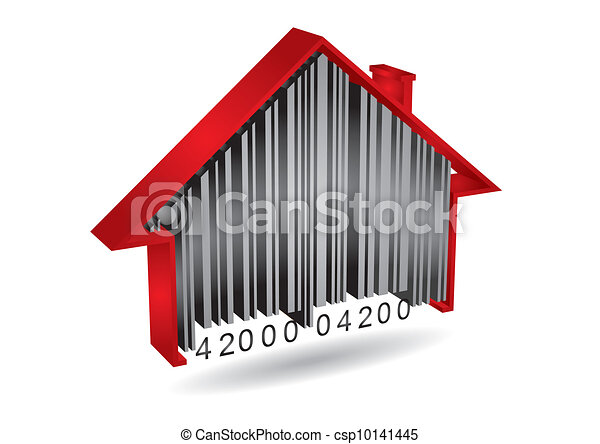 Commercial concept with barcode - csp10141445