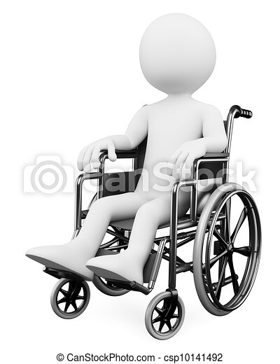 3D white people. Handicapped - csp10141492
