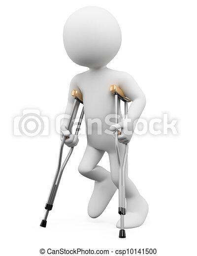 3D white people. Injury - csp10141500